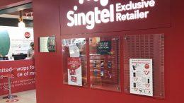 SingTel outlet in Singapore