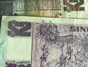 Singapore two-dollar bills