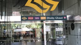 Dhoby Ghaut MRT stop in Singapore