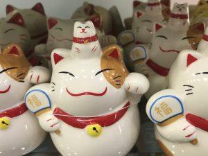 Ceramic cats at Daiso