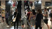 Escalators at Singapore Orchard MRT station