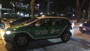 A Grab taxi in Singapore