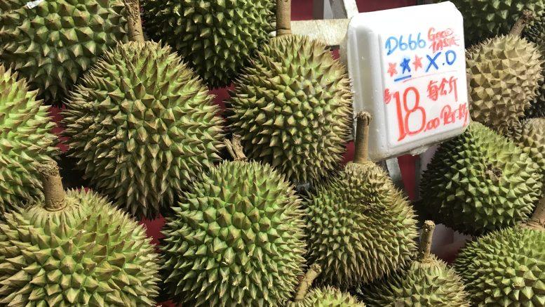 Singapore durian vendor