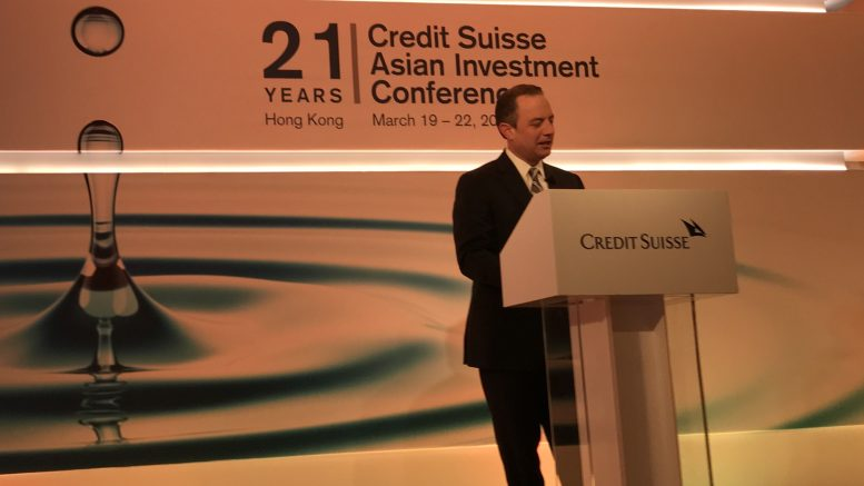 Reince Priebus at the Credit Suisse Asian Investment Conference
