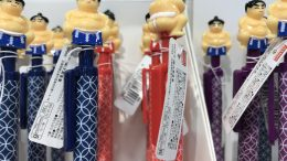 Japanese sumo wrestling pens at Daiso