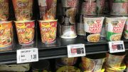 Cup noodles at Singapore supermarket