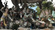 Display at Haw Par Villa theme park in Singapore