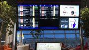 Singapore Changi Airport Terminal 4 departure board