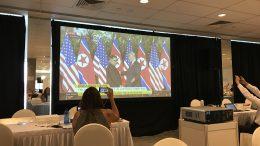 Trump-Kim handshake at summit