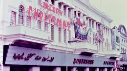 Singapore's Robinson's department store in 1968, with Christmas decorations. Photo taken by Leonard Shaffer.