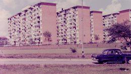 Singapore public housing blocks in 1968; unknown location.