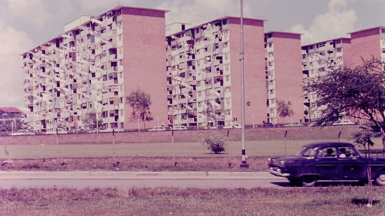 Singapore public housing blocks in 1968; unknown location.