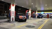 Petrol station in Singapore in the Geylang neighborhood; taken August 2018.