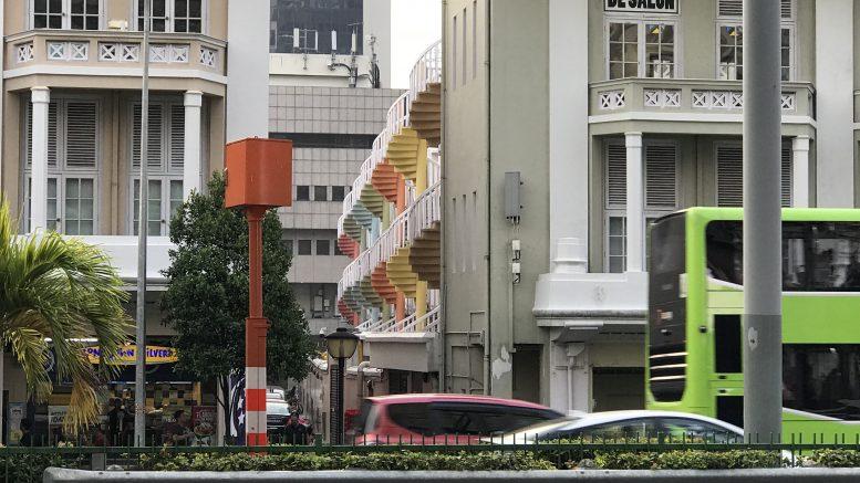 A Singapore street scene in the Bugis neighborhood; taken August 2018.