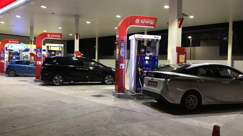 Petrol station in Singapore in the Geylang neighborhood; taken August 2018.