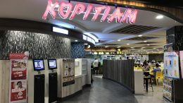 Kopitiam food court at Singapore's SingPost Center; taken September 2018.