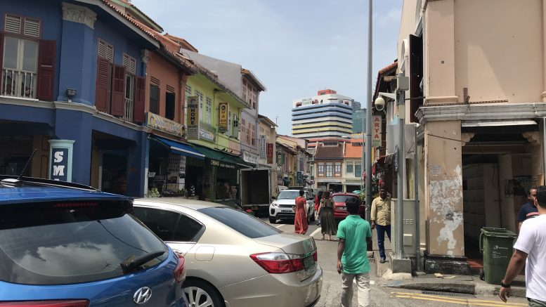 Little India street scene in Singapore; taken July 2018.