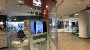 SingTel retail store at Raffles City Mall in Singapore; taken September 2018.