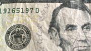 U.S. five dollar currency note; taken September 2018.