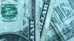 U.S. one-dollar currency notes; taken September 2018.