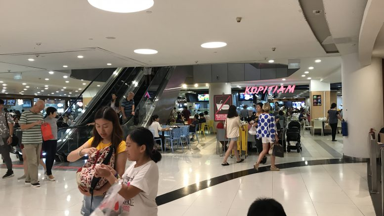 Kopitiam food court in Singapore VivoCity Mall; taken September 2018.
