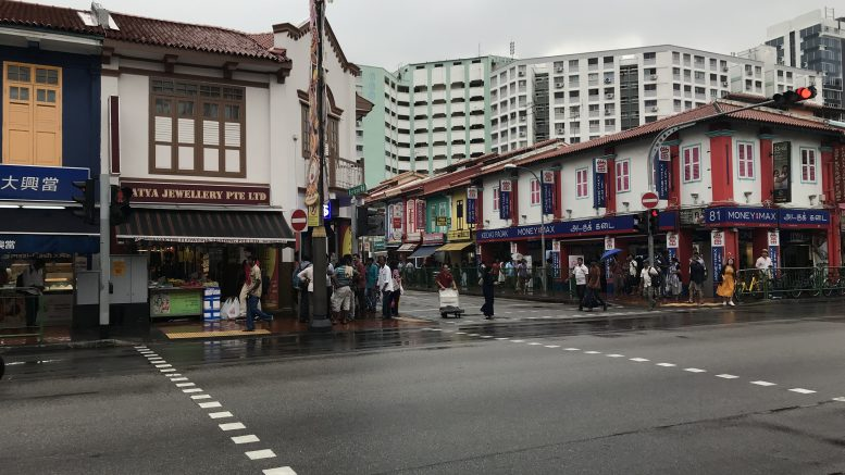 MoneyMax outlet in Singapore's Little India neighborhood; taken October 2018.