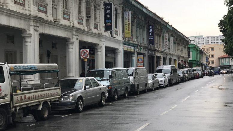 Street scene in Singapore's Little India neighborhood; taken October 2018.