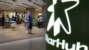 StarHub retail outlet at VivoCity mall in Singapore; taken October 2018.