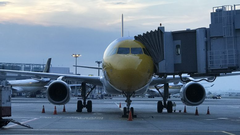 A Singapore Airlines Scoot plane on the tarmac at Changi Airport in October 2018.