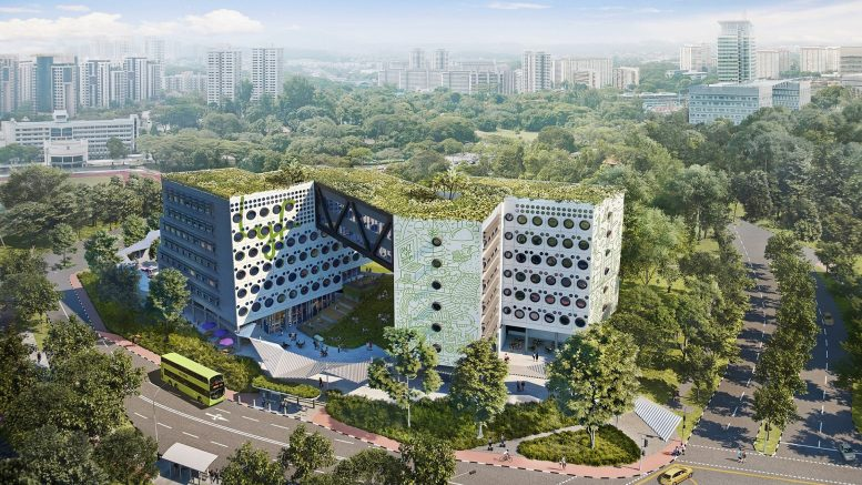 An artist's impression of Ascott Residence Trust's lyf one-north co-living project, which is under development in Singapore. It is expected to open in 2021. Credit: Ascott Residence Trust.