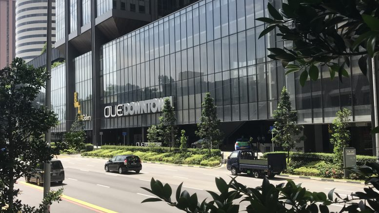 The OUE Downtown building in Signapore's central business district. Credit: Shenton Wire