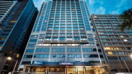 Ascendas Hospitality Trust's 241-room Pullman Sydney Hyde Park hotel located in Sydney's central business district. Credit: Ascendas Hospitality Trust.