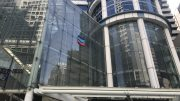 The Chevron House building at Raffles Place in Singapore's central business district (CBD).