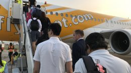Boarding a Scoot flight