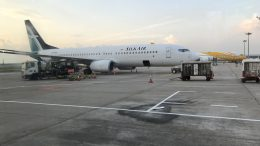 SilkAir and Scoot planes on tarmac at Changi Airport