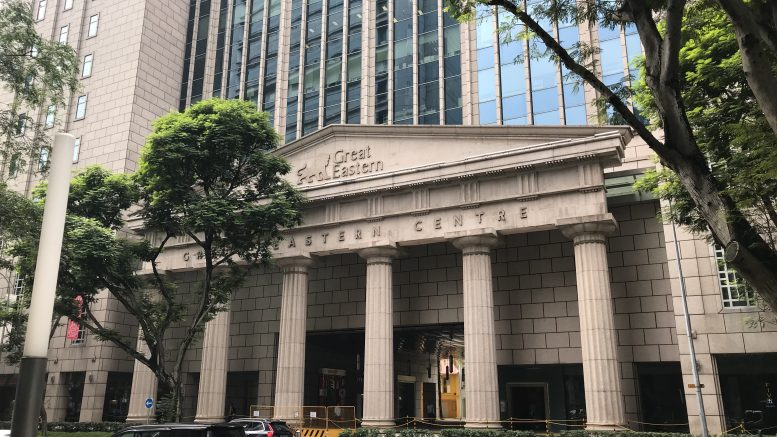 Great Eastern building in Singapore's central business district