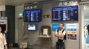 Airport departure board at Ho Chi Minh City airport