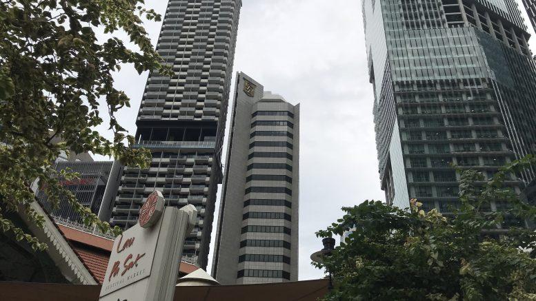 Singapore's central business district (CBD), including Lau Pa Sat hawker center