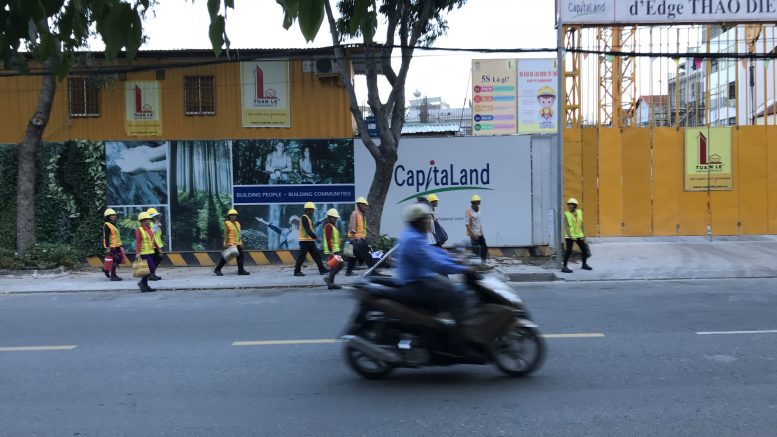 CapitaLand construction site in Ho Chi Minh City, Vietnam