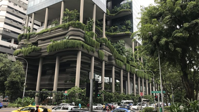 The green ParkRoyal Hotel on Pickering in Singapore, part of the Pan Pacific Hotels Group