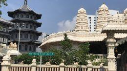 Buddhist and Hindu Temples in Singapore's Geylang neighborhood