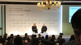 Former Federal Reserve chief Janet Yellen (right) at the Credit Suisse Asian Investment Conference in Hong Kong on 25 March 2019.
