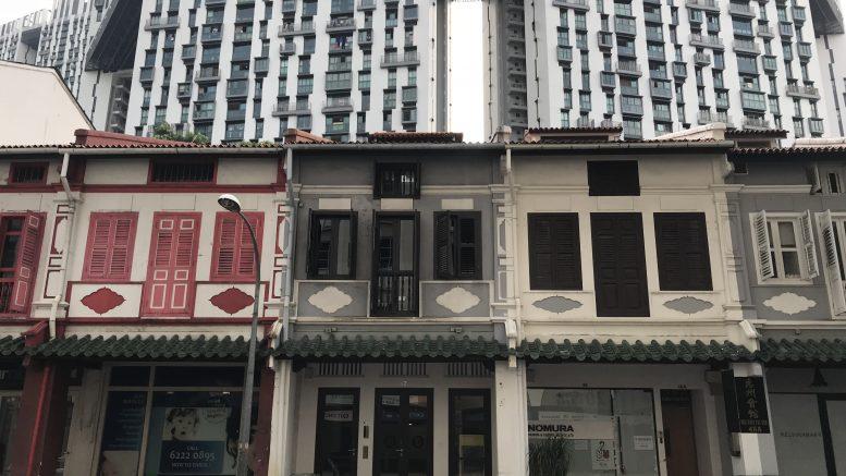 Singapore street scene at Duxton Hill