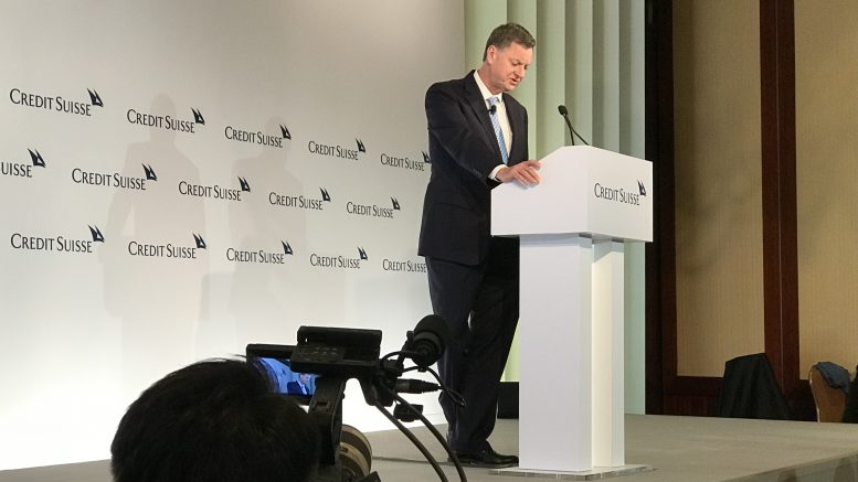 Charles Evans, president of the Federal Reserve Bank of Chicago speaking at the Credit Suisse Asian Investment Conference in Hong Kong on 25 March 2019.