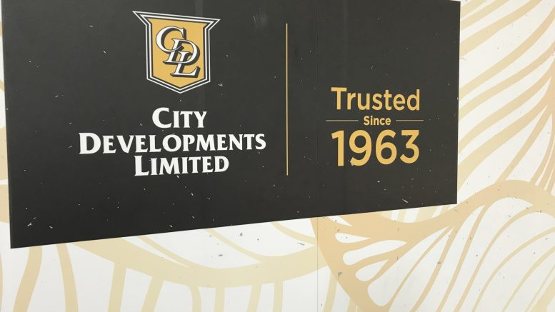 City Developments signage on construction hoarding