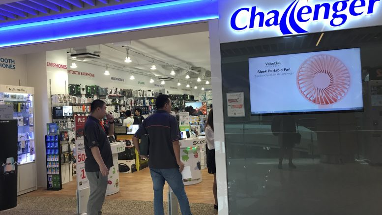 Challenger Technologies outlet at Suntec