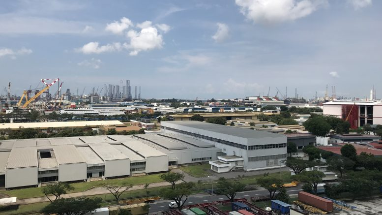 Singapore shipyards in Tuas area