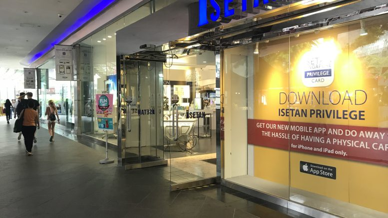 The Isetan department store at Singapore's Orchard Road shopping belt