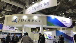 ST Engineering display at CommunicAsia conference in Singapore in 2019.