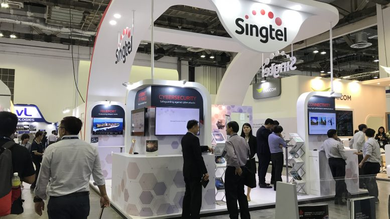Singtel booth at CommunicAsia 2019